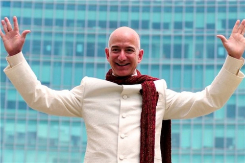 Jeff Bezos, founder and CEO of Amazon, topped the list of the world's richest