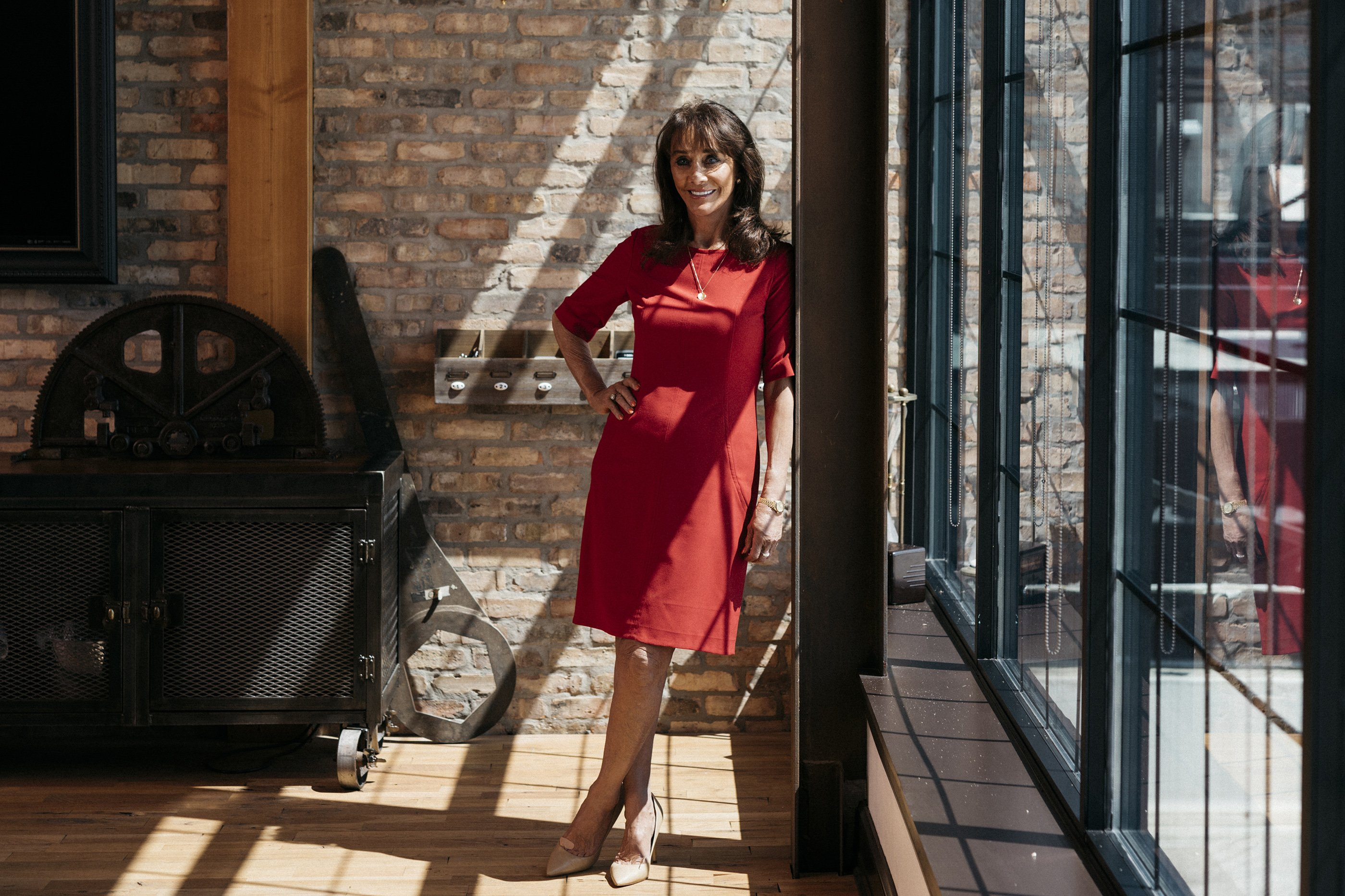 Diane Hendricks at Ironworks, the old foundry complex she converted into a commercial space, in Beloit, Wis., June 6, 2017. Hendricks is remaking Beloit, a town that used to make paper-making machines and diesel engines, into a place where startups can create the next billion dollar idea.