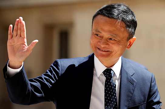 "Jack Ma, chairman of Alibaba Group arrives at the ""Tech for Good"" Summit in Paris, France May 15, 2019. REUTERS/Charles Platiau - RC1AB0B4CFE0"