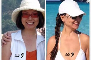 Jing before (age 55) and after (age 65)  exercise program