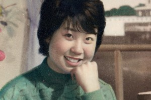 Jing in 1977 when she worked as a factory worker.